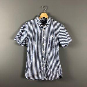 Todd Snyder men's blue white striped shirt